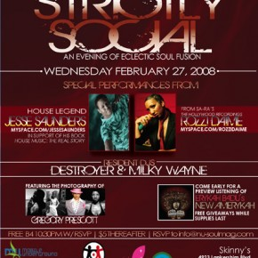 Sa-Ra's Rozzi Daime + Jesse Saunders + Erykah Badu - Feb 27th Strictly Social