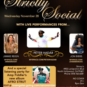 Nov 28 - Los Angeles - Strictly Social - Live Soul Music