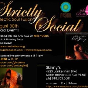 Aug 30th - Keite Young Listening Party, Gina Rene Performance